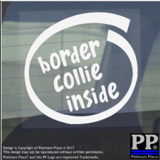 1 x Border Collie Inside-Window,Car,Van,Sticker,Sign,Adhesive,Dog,Pet,On,Board
